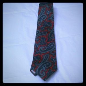 Christian Dior Paisley Tie Blue / Red Italy Silk